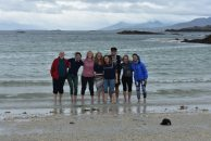The London Sea Shanty Collective on a beach in County Galway