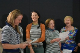 The London Sea Shanty Collective run a workshop in Claddaghduff