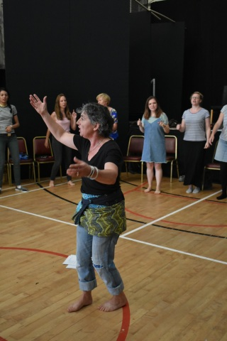 The London Sea Shanty Collective lead a workshop in Claddaghduff
