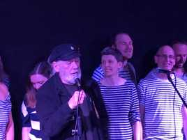 Jim Radford sings with the London Sea Shanty Collective at Mycenae House