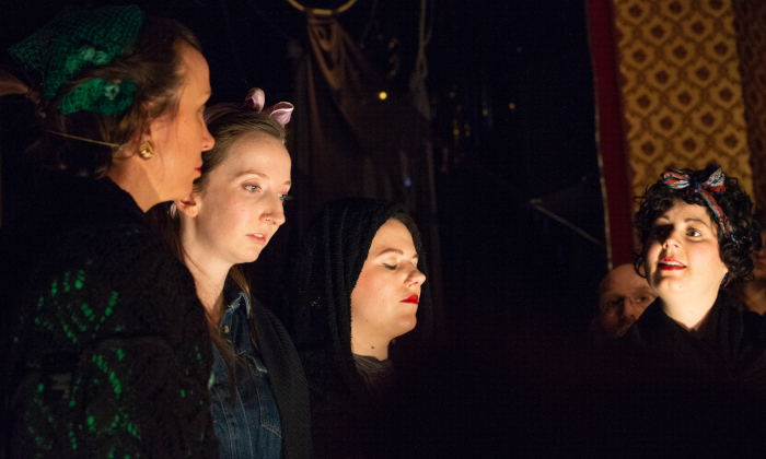 The London Sea Shanty Collective perform The Earl de Grey: a Hull Folk Opera. Photograph: Lauren Daly